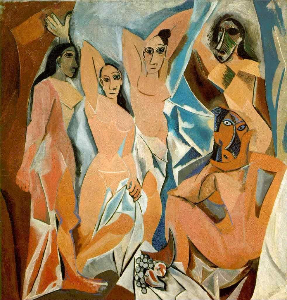 Pablo Picasso - Page 4 Pablopicasso-les-demoiselles-davignon-1907