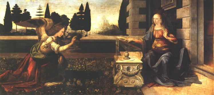 1 Leonardo Da Vinci The Annunciation