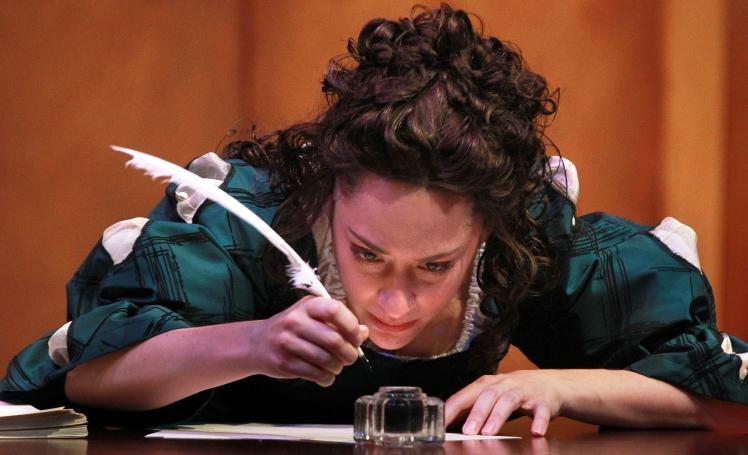 """1 Emily Gunyou Halaas as Aphra Behn in """"Or."""""""