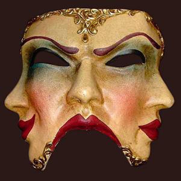 2 trifaccia dipinta mask
