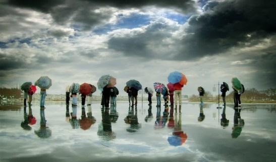 8 umbrellas