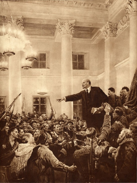 4 Viktor Serov - Lenin Making a Speech