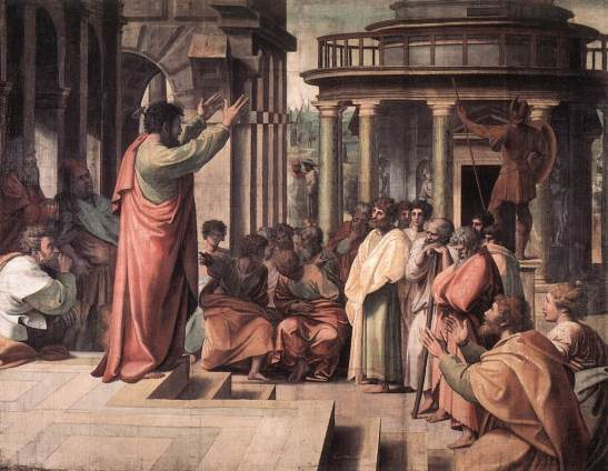 5 Raphael St Paul Preaching in Athens