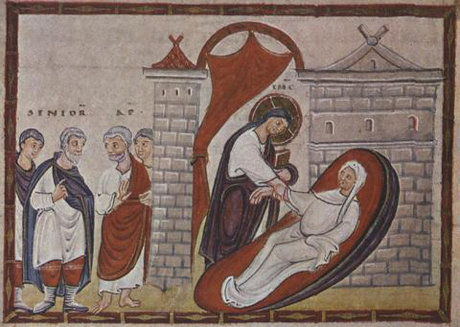 6 Codex Egberti-Ressurection of Jairus Daughter