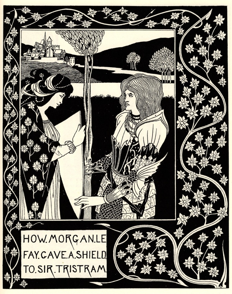 3 how Morgan le Fay gave a shield to sir Tristram