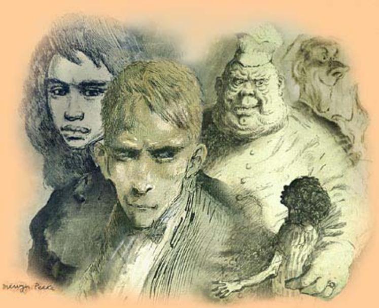 8 Sketches by Mervyn Peake gormenghast