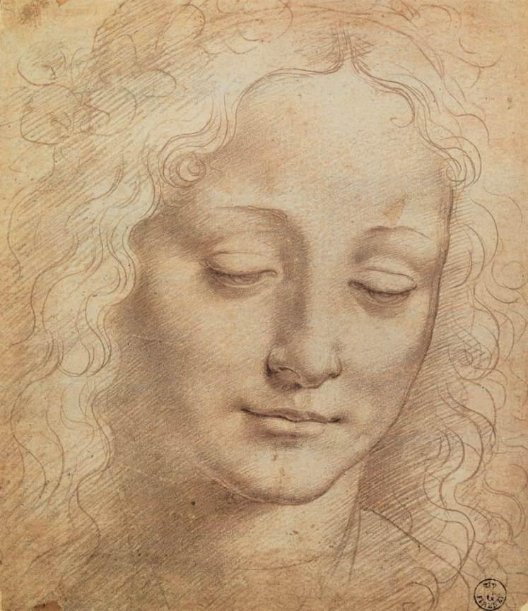 1 female head da Vinci