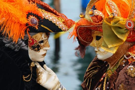 4 Venice Carnival Masks