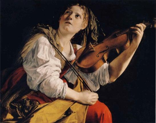 5 Orazio Gentileschi Young Woman Playing a Violin