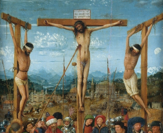 3 Jan van Eyck the crucified Jesus