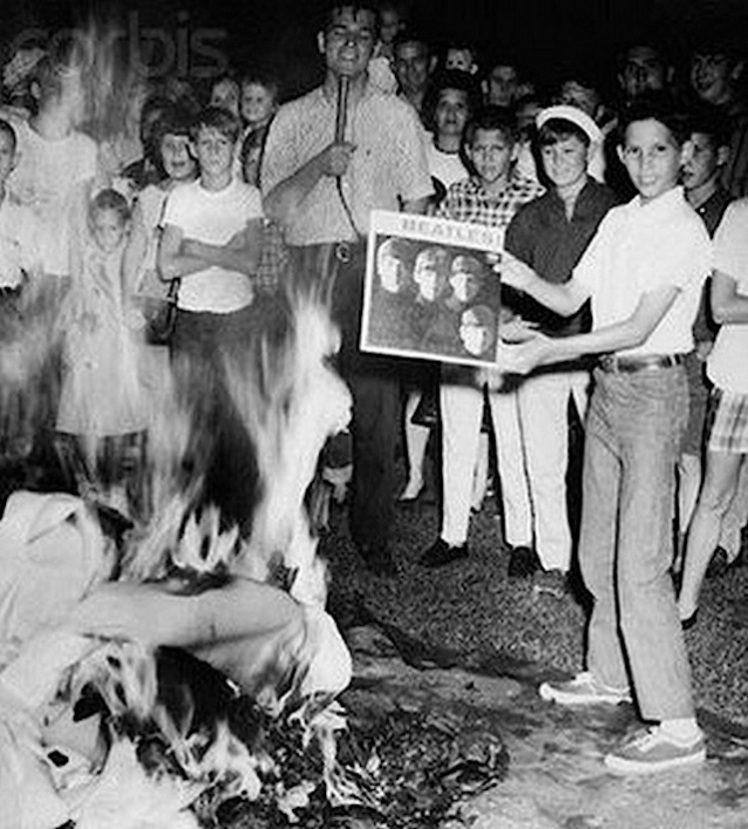 7 Beatles burning