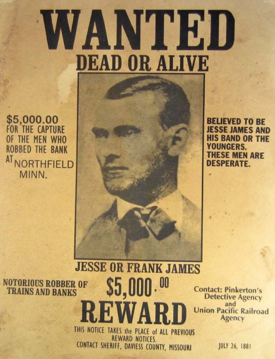 3 James wanted poster