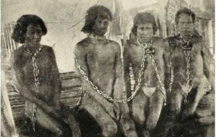 4 enslaved Indians Brazil 1900s