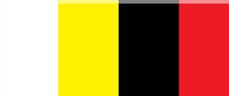 5b Flag Blue White Yellow Black Red