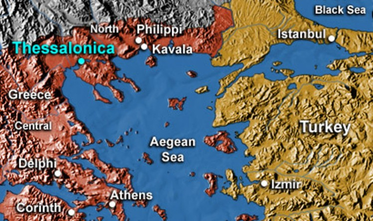 2 Thessalonica Map
