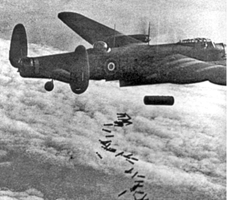 2 Lancaster I NG128 Dropping Blockbuster_Duisburg Oct 14 1944