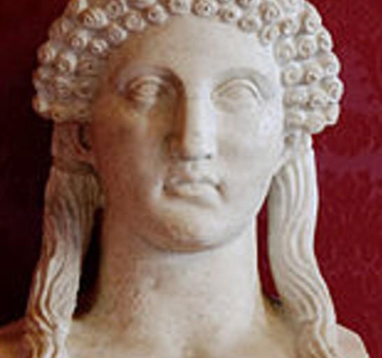 1 Sappho 5th cent BC bust, Roman copy