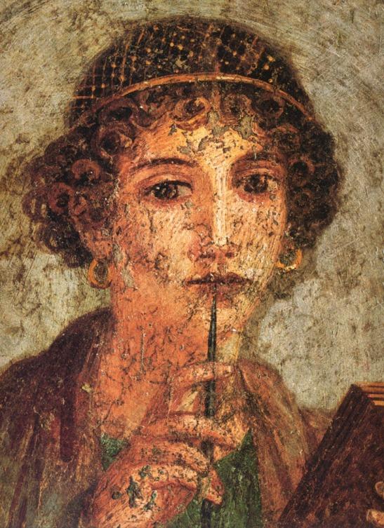 2 Sappho Painting of 1st century AD Campania