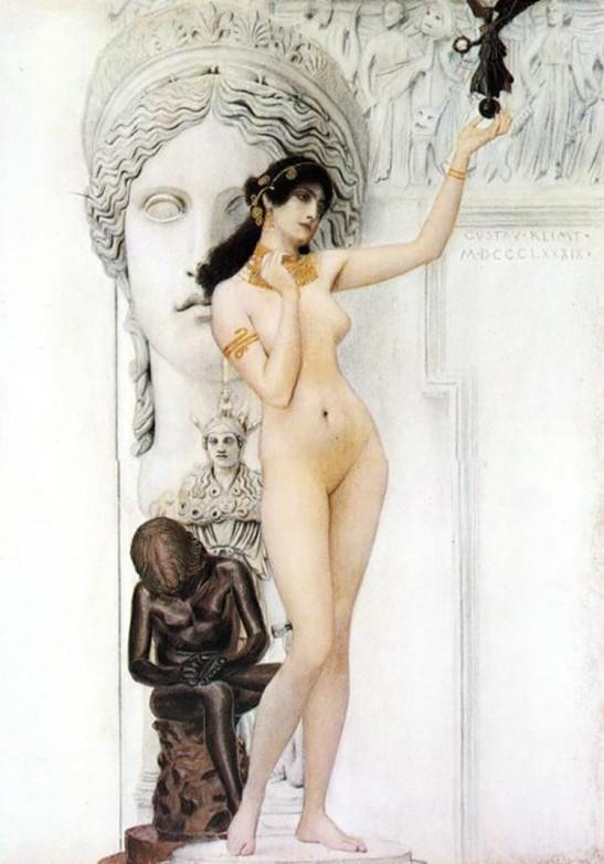 4 Klimt Sculpture (Sappho) 1890